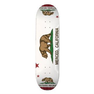 Kalifornien-Staats-Flagge Merced 21,6 Cm Skateboard Deck