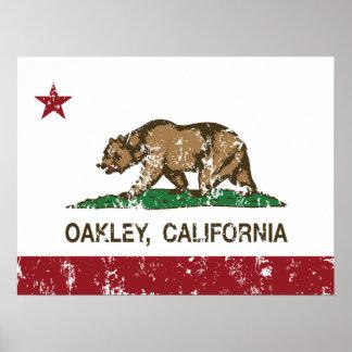 Kalifornien-Staats-Flagge Oakley Poster