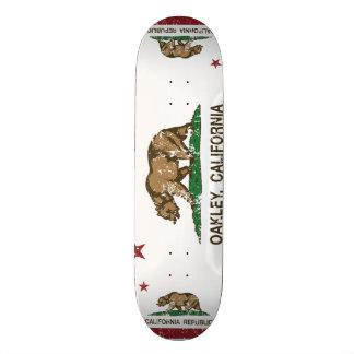 Kalifornien-Staats-Flagge Oakley Skateboardbrett