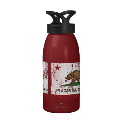 Kalifornien-Staats-Flagge Placentia Wiederverwendbare Wasserflaschen