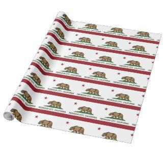 Kalifornien-Staats-Flagge Redwood City Geschenkpapier