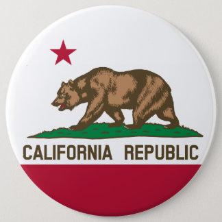 Kalifornien-Staats-Flagge Runder Button 15,3 Cm