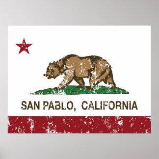 Kalifornien-Staats-Flagge San Pablo Poster