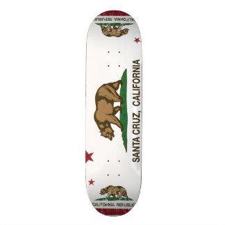 Kalifornien-Staats-Flagge Santa Cruz Personalisiertes Skateboarddeck