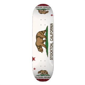 Kalifornien-Staats-Flagge Stockton 19,7 Cm Skateboard Deck