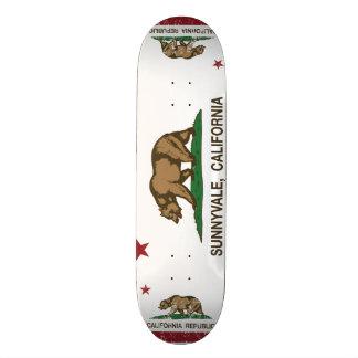 Kalifornien-Staats-Flagge Sunnyvale Skateboarddeck