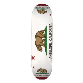 Kalifornien-Staats-Flaggen-Antilope Personalisierte Skateboards