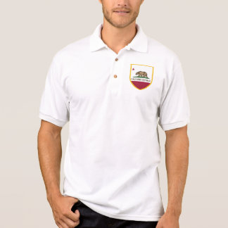 Kalifornien-Staats-Flaggen-Arm Polo Shirt