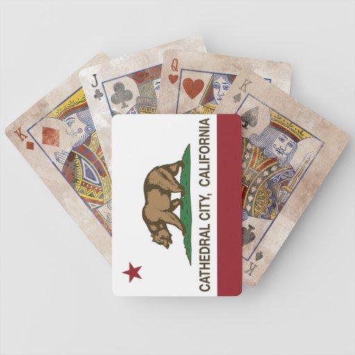 Kalifornien-Staats-Flaggen-Kathedralen-Stadt Poker Karten