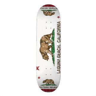 Kalifornien-Staats-Flaggen-Laguna-Strand Personalisierte Skateboarddecks