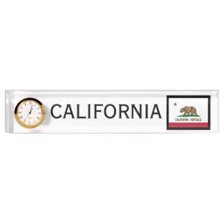 Kalifornien-Staats-Flaggen-Schreibtisch-Uhr durch