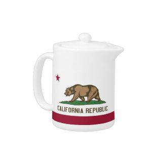 Kalifornien-Staats-Flaggen-Teekanne