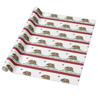 Kalifornien-Staats-Flaggen-Vorberg-Bauernhöfe Geschenkpapier