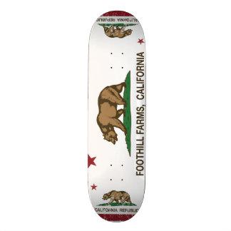 Kalifornien-Staats-Flaggen-Vorberg-Bauernhöfe Personalisiertes Skateboarddeck