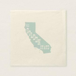 Kalifornien-Staats-Motto-Slogan Servietten