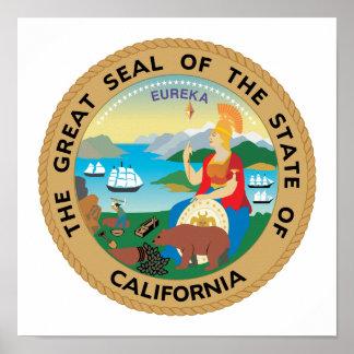 Kalifornien-Staats-Siegel Poster