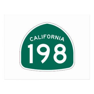 Kalifornien-Staats-Weg 198 Postkarte