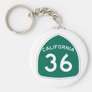 Kalifornien-Staats-Weg 6 Schlüsselanhänger