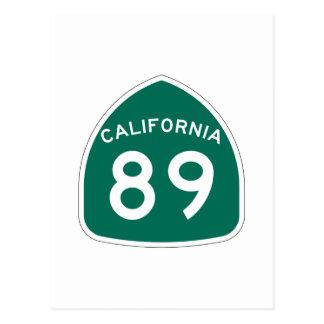Kalifornien-Staats-Weg 89 Postkarte