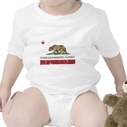 Kalifornien-Staatsflaggenranch Santa Margarita T-shirt