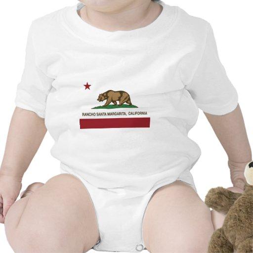 Kalifornien-Staatsflaggenranch Santa Margarita T Shirts