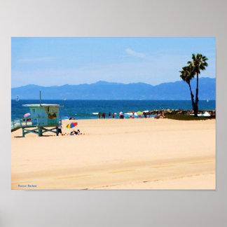 Kalifornien-Strand gemalt Poster
