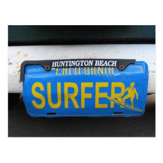 Kalifornien-Surfer-Kfz-Kennzeichen Postkarte