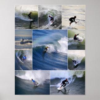 Kalifornien-Surfer-Plakat Poster