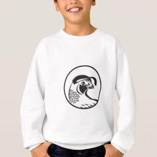 Kalifornien-Tal-Wachtel-Kreis Schwarzweiss Sweatshirt