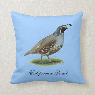 Kalifornien-Tal-Wachteln Kissen