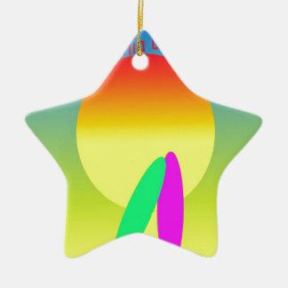 Kalifornien-Träumen Keramik Stern-Ornament