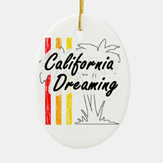 Kalifornien-Träumen Ovales Keramik Ornament