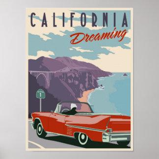 Kalifornien-Träumen Poster
