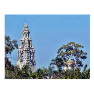 Kalifornien-Turm im Balboa-Park San Diego Postkarte