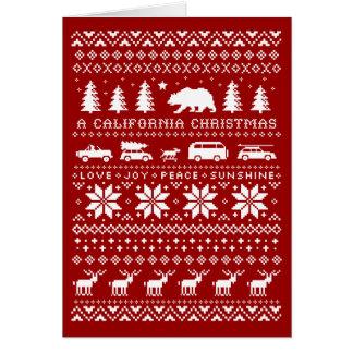 Kalifornien-Weihnachtsstrickjacke-Gruß-Karte Karte