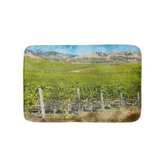 Kalifornien-Wein-Weinberg Badematte