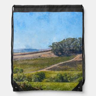 Kalifornien-Weinberg Turnbeutel
