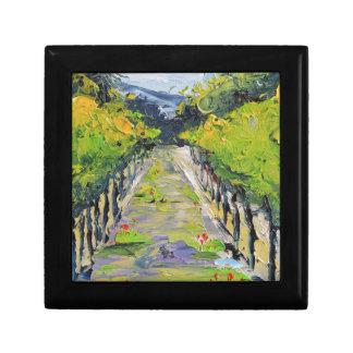 Kalifornien-Weinkellerei, Sommerweinbergreben in Erinnerungskiste