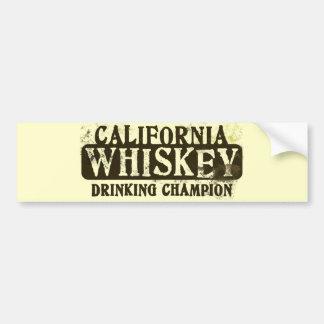 Kalifornien-Whisky-trinkender Meister Autoaufkleber