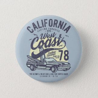 Kalifornienwestküsten-surfender Paradies-Sommer Runder Button 5,7 Cm