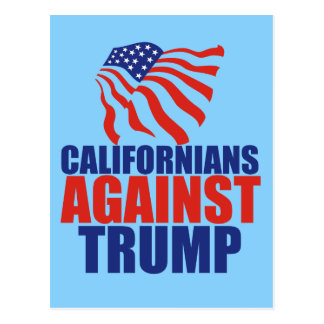Kalifornier gegen Trumpf Postkarte