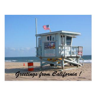 kalifornische Grüße Postkarte