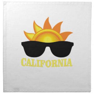 Kalifornisches cooles stoffserviette