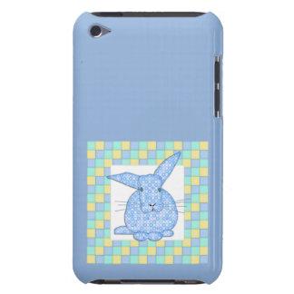 Kaliko-blaues Häschen auf Pastellschachbrett iPod Case-Mate Hülle