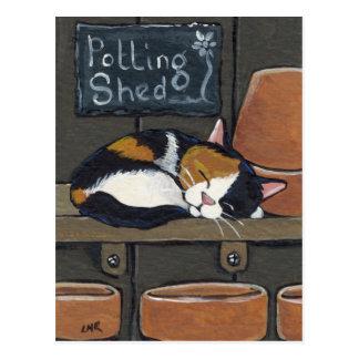 Kaliko-Katze in der Potting-Halle-Postkarte Postkarte