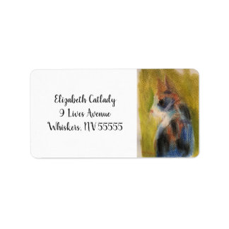 Kaliko-Katzen-Adresse Lables mit Originalvorlage Adressaufkleber