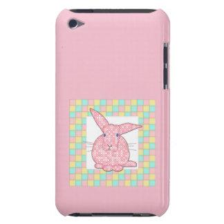 Kaliko-rosa Häschen auf Pastellschachbrett iPod Touch Case-Mate Hülle