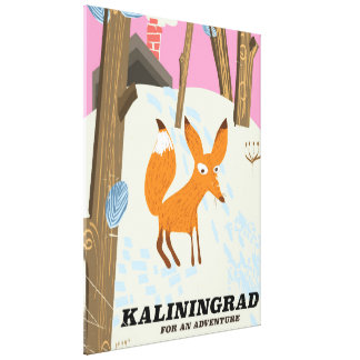 """Kaliningrad """"für ein Abenteuer"""" Reiseplakat Leinwanddruck"""