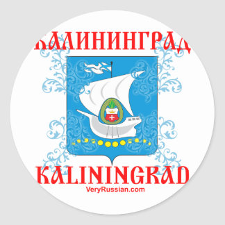 Kaliningrad-Stadt Wappen Runder Aufkleber