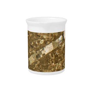 Kalkstein unter dem Mikroskop Getränke Pitcher